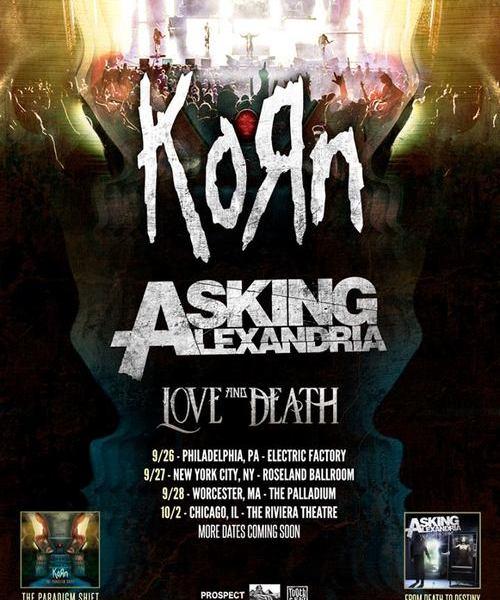 Asking Alexandria + Korn Announce Tour