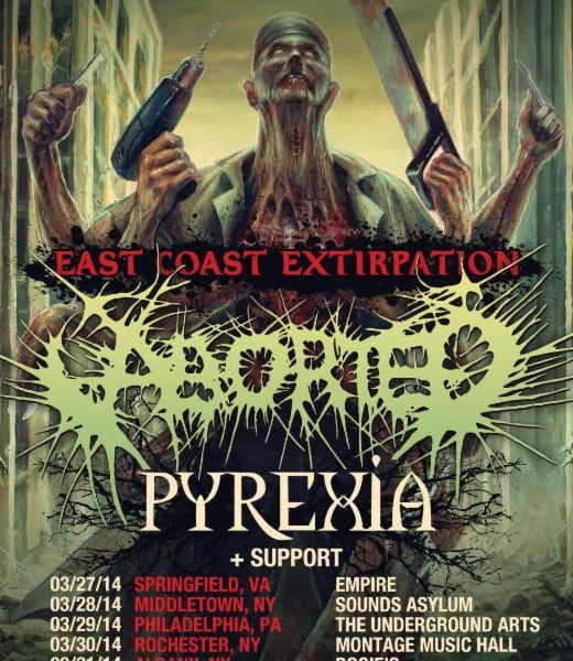 Aborted announce new east coast tour with Pyrexia