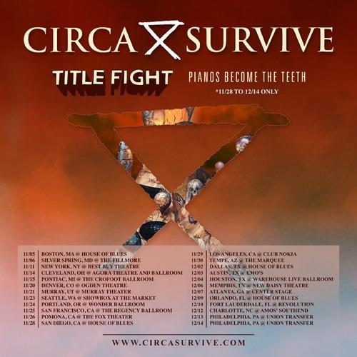 Circa Survive Announce Fall North American Tour