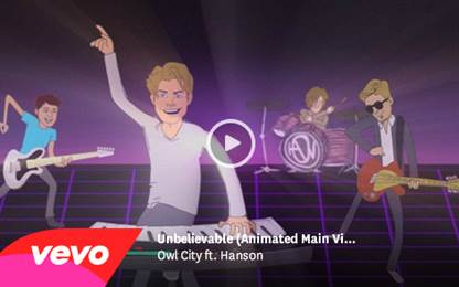 "Owl City releases music video for ""Unbelievable"" ft. Hanson"