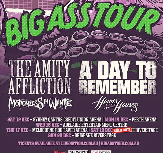 Hands Like Houses Replace The Ghost Inside On A Day To Remember, Amity Affliction Co-Headliner