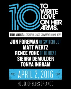 "To Write Love On Her Arms release new video ""10 years of TWLOHA"""