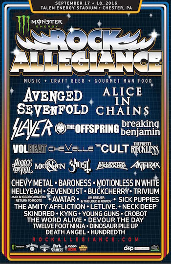 Monster Energy Rock Allegiance lineup announced