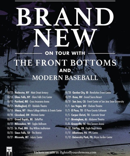 Brand New, Modern Baseball, The Front Bottoms announce American tour
