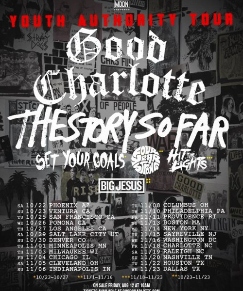Good Charlotte announce fall tour with The Story So Far and more
