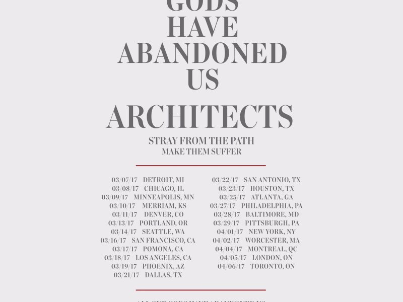 Architects announce 2017 headlining North American tour