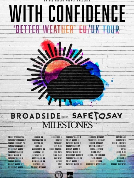 Milestones announced as support for With Confidence EU/UK tour