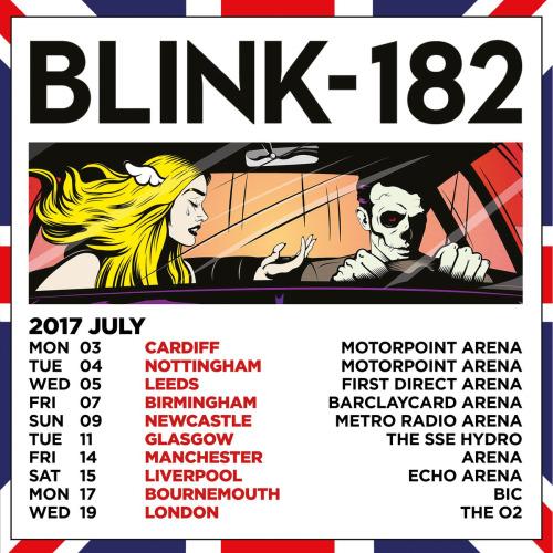 Blink-182 announce 2017 UK arena tour