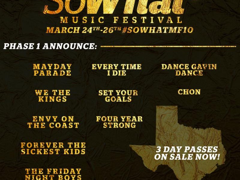 So What?! Music Festival announce first round of artists