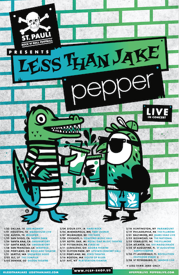 Less Than Jake sign to Pure Noise Records, announce co-headlining tour with Pepper