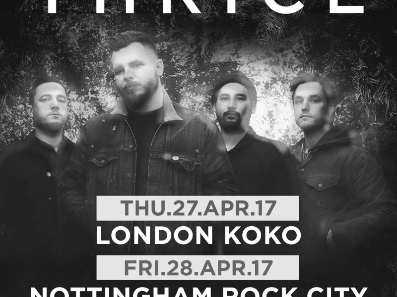 Thrice announce April UK shows
