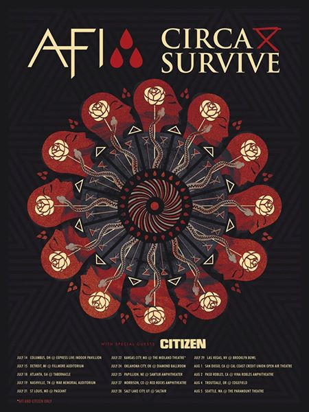 AFI, Circa Survive announce summer tour