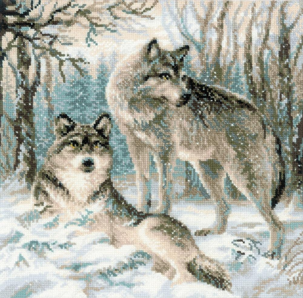 Pair Of Wolves RIOLIS Christmas Cross Stitch Kit