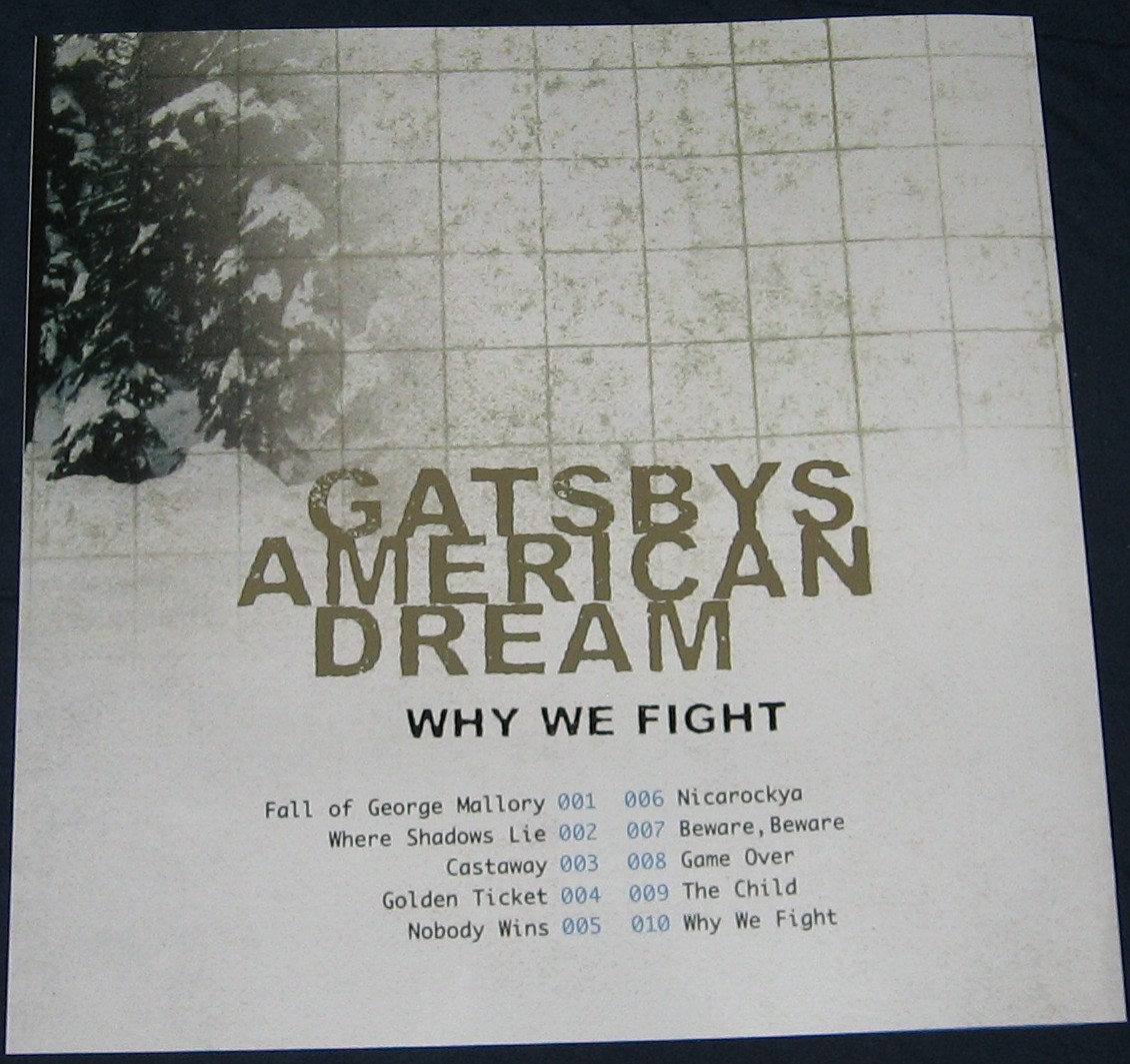 Gatsbys American Dream Why We Fight Booklet Back Cover
