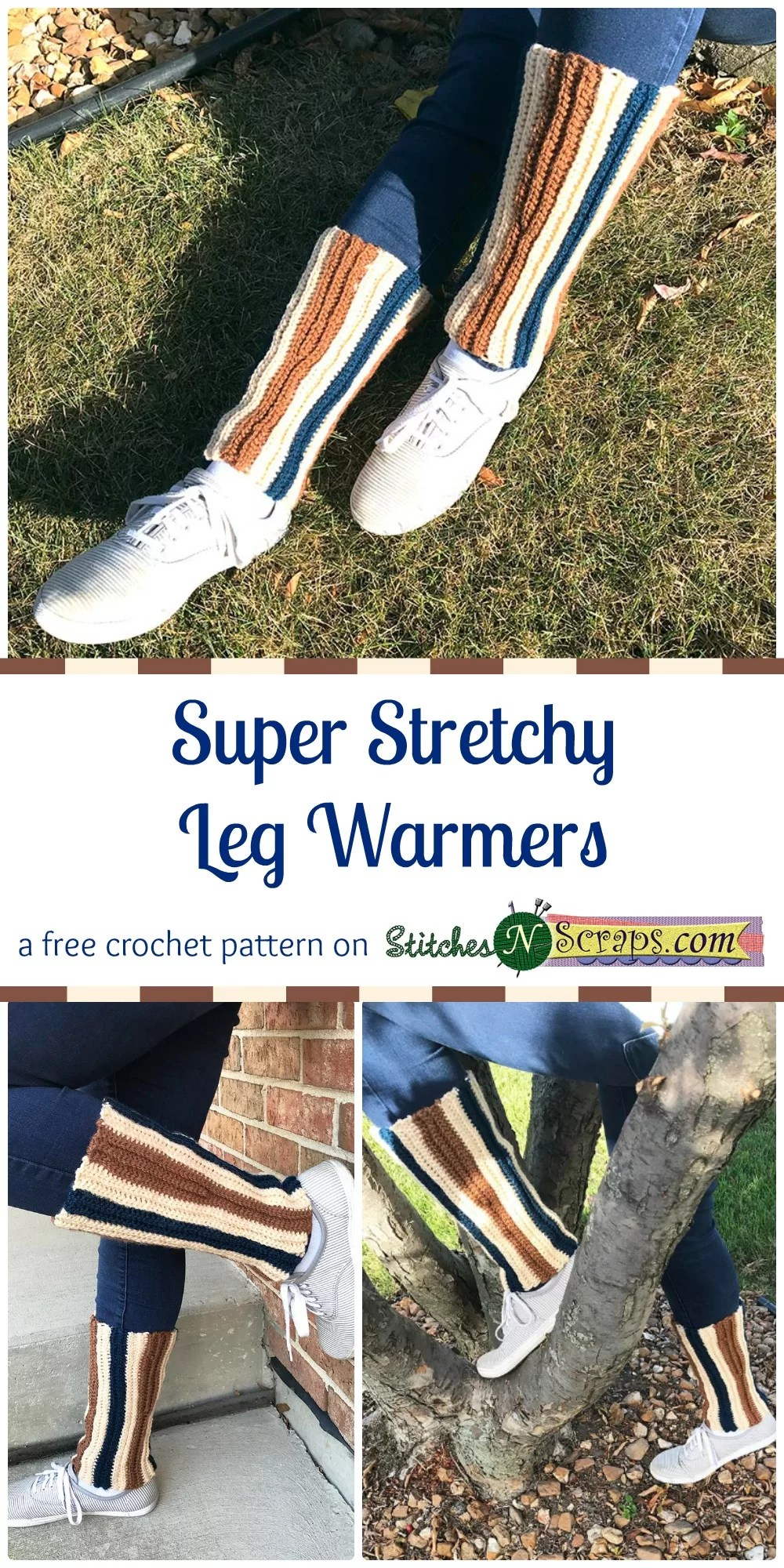 Free Pattern Super Stretchy Leg Warmers Stitches N Scraps