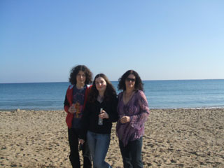 Us on the beach Xmas Day