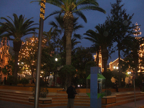 Torrevieja Church all lit up