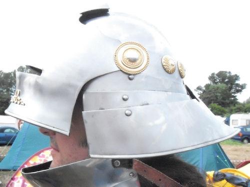 Luke in his shiny new helmet
