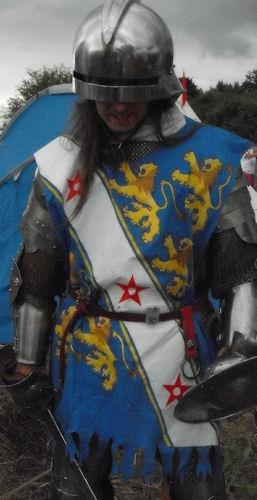 William de Bohun in his new surcoat