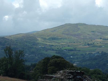 Beautiful Welsh hills - the view from Conwy Castle