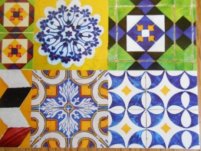 Lisbon - tile postcards 3