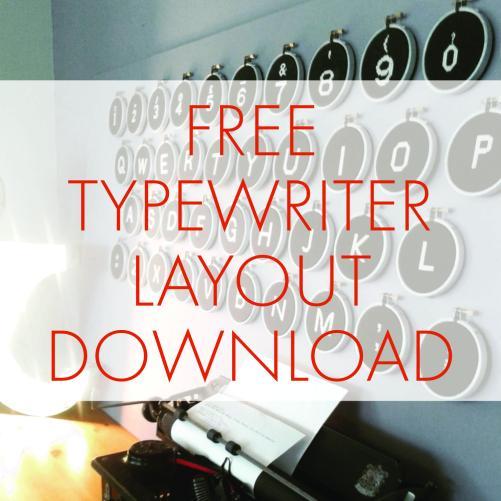Free Typewriter Layout Download | STITCHFINITY