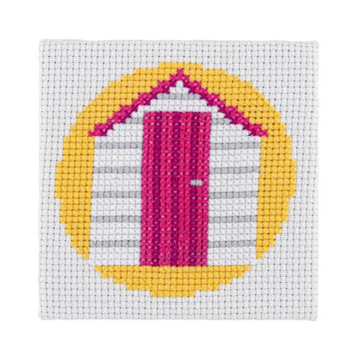 Mini Beach Hut Cross Stitch Kit | STITCHFINITY