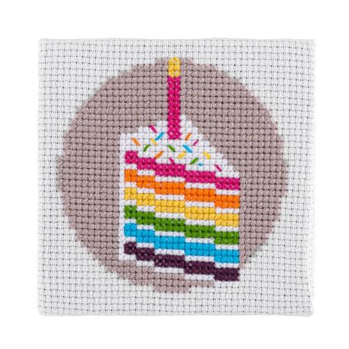 Mini Cake Cross Stitch Kit | STITCHFINITY