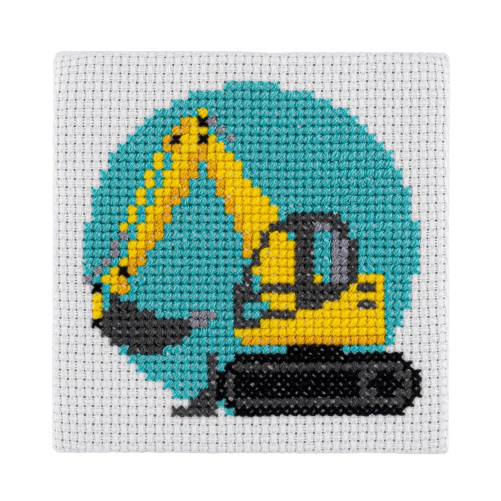 Mini Digger Cross Stitch Kit | STITCHFINITY