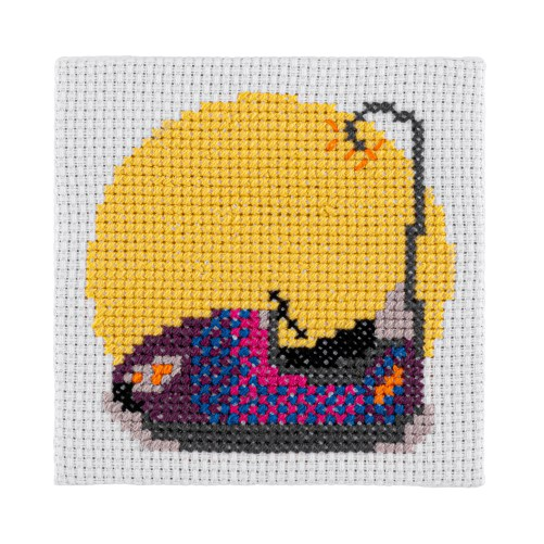 Mini Dodgem Cross Stitch Kit | STITCHFINITY