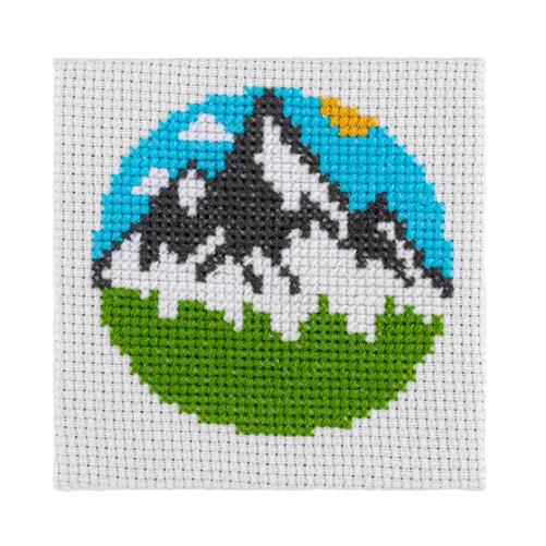 Mini Mountains Cross Stitch Kit | STITCHFINITY