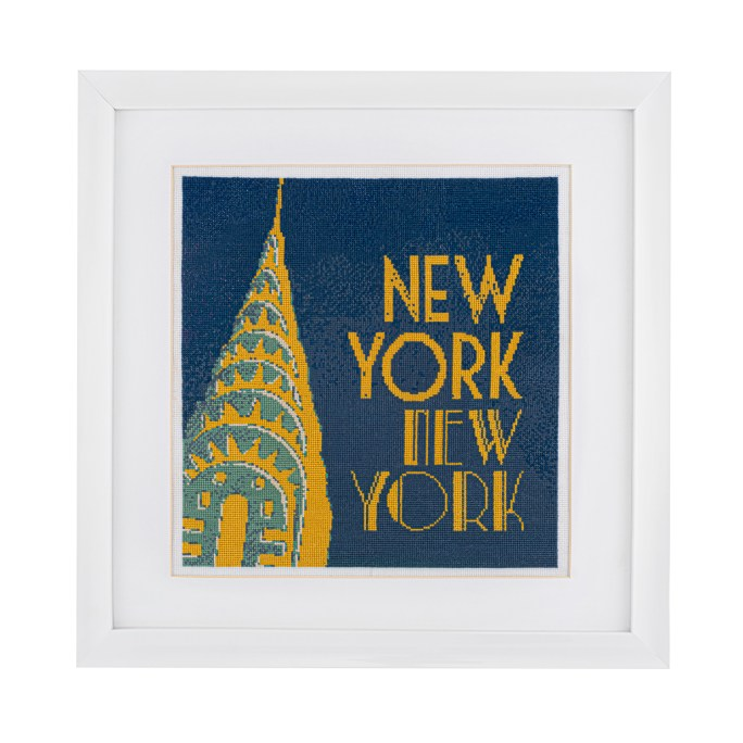 New York By Night Cross Stitch Kit | STITCHFINITY