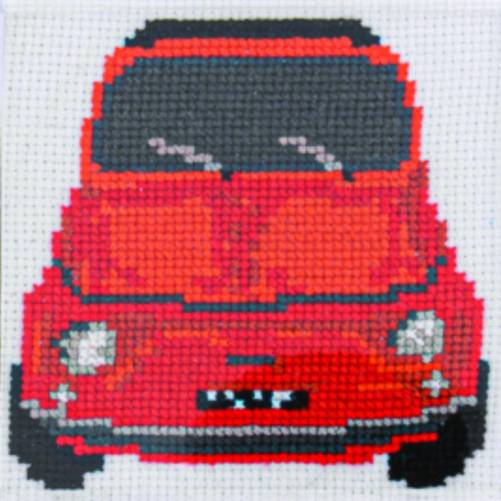 Cinquecento Red Cross Stitch Kit | STITCHFINITY