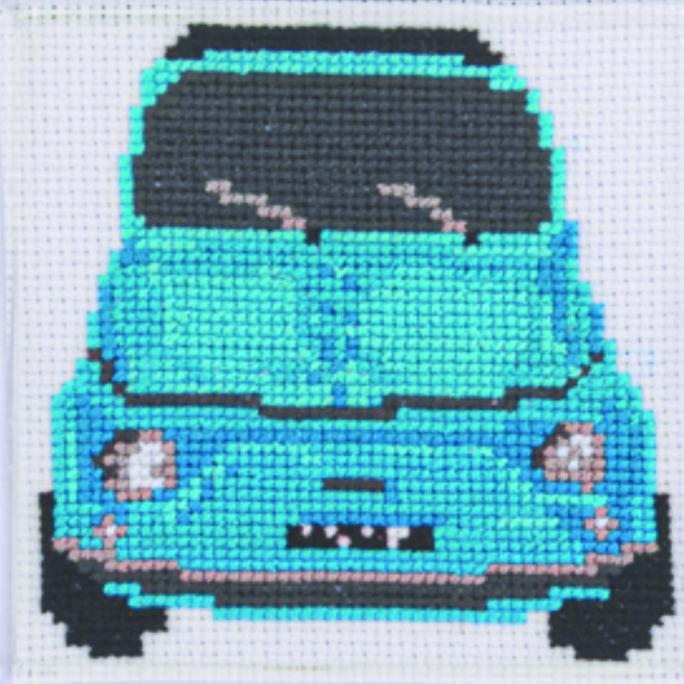 Cinquecento Turquoise Cross Stitch Kit | STITCHFINITY