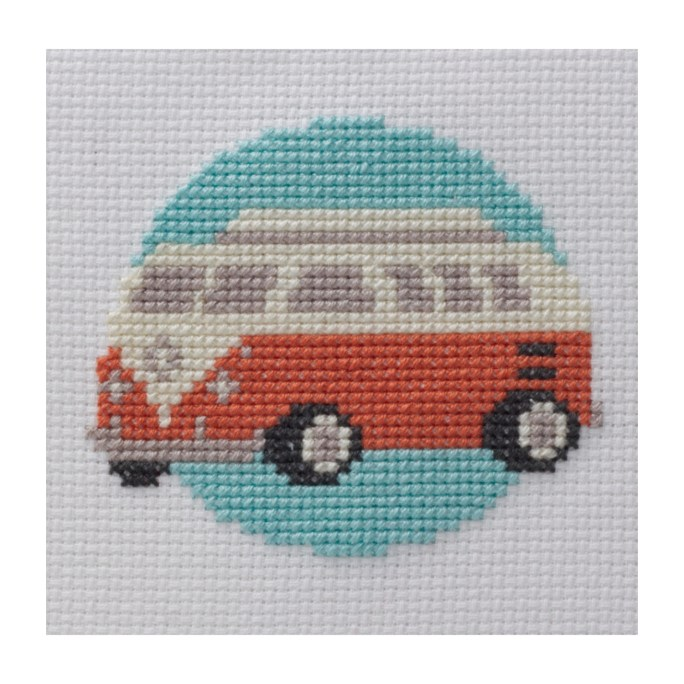 Mini Camper Cross Stitch Kit | STITCHFINITY