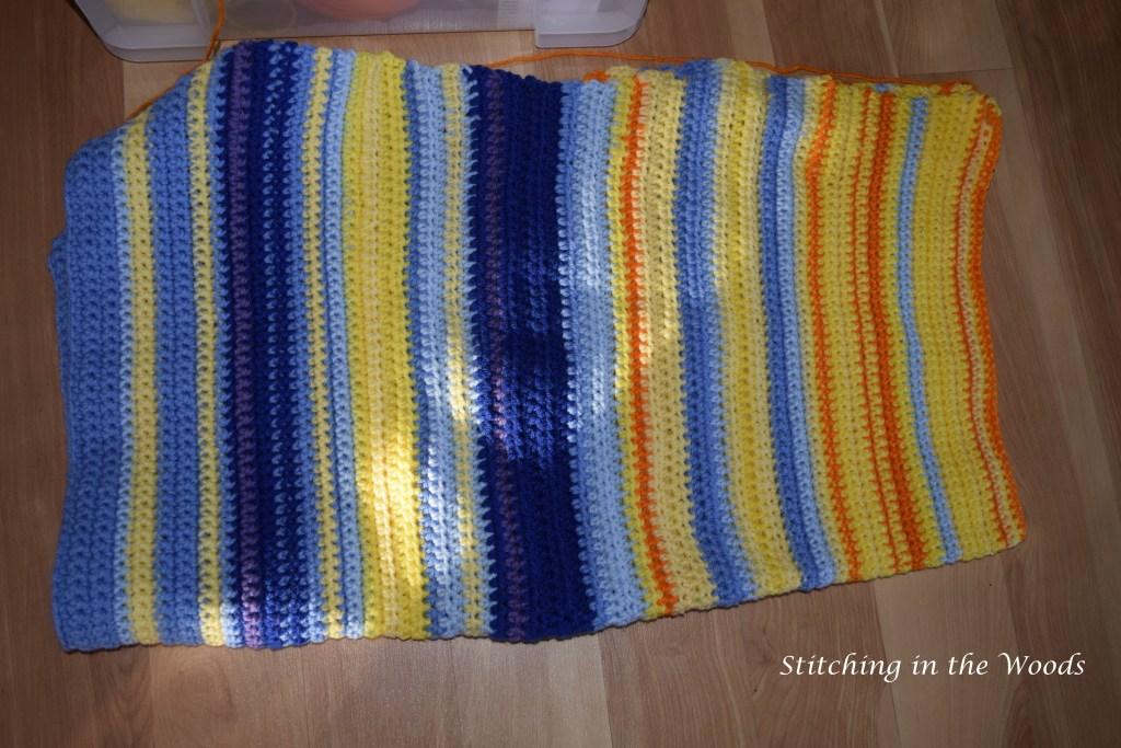 Temperature shawl progress (minus 3/31)