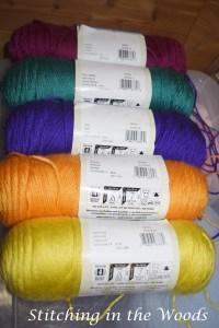 My colors (from the top): fuschia, cool green, iris, mango, and lemonade