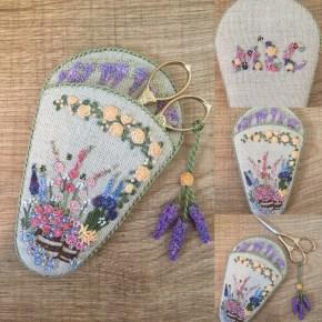 'In an English Country Garden' scissorkeeper, my interpretation of a design by Lorna Bateman