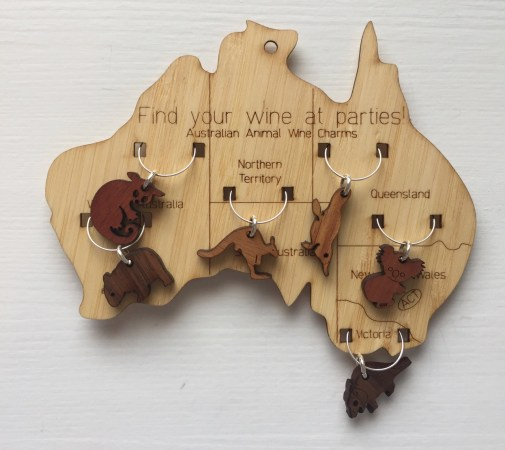 The original Buttonworks wine charms