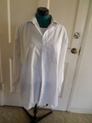 men's white dress shirt...