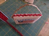 Ornament Side with Ribbon Trim & Hemp Hanging Cord
