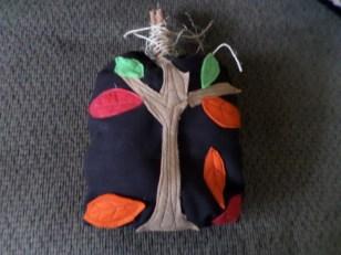 Fall Leaf Applique Pillow
