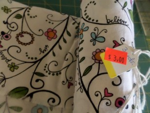 Thrift store fabric bargain for $3