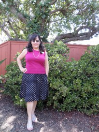 Refashioned Polka Dot Skirt