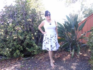 Breezy white refashioned skirt with tank