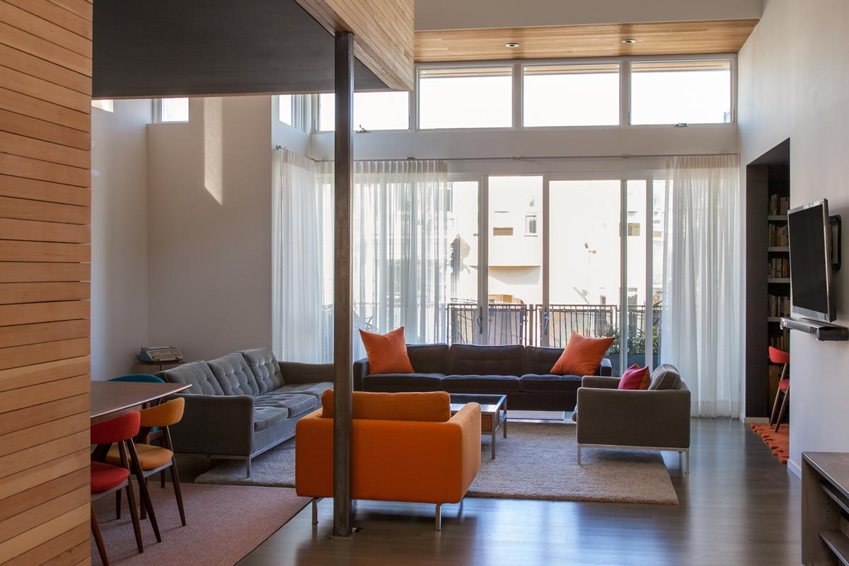 Sheer Window Custom Window Treatments For A Contemporary