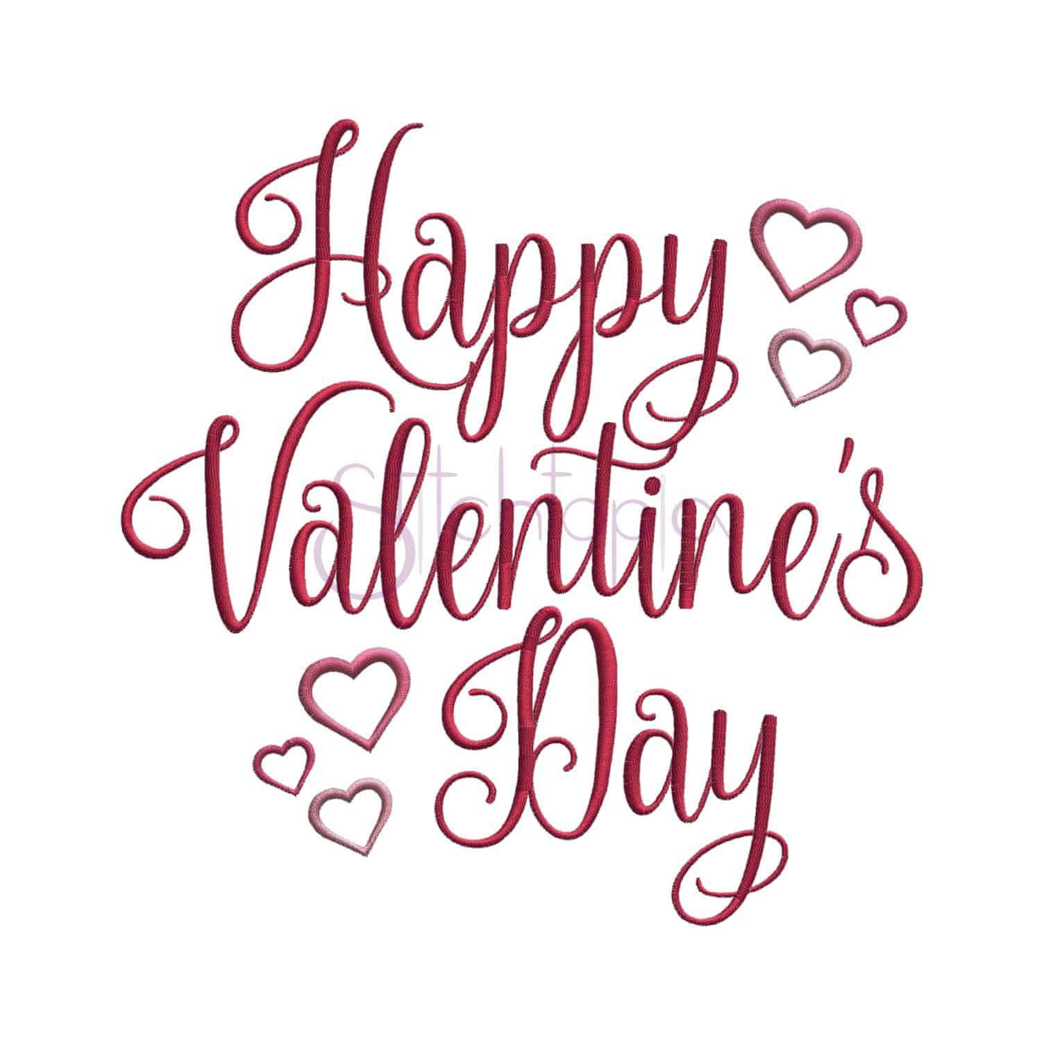 Happy Valentine S Day Embroidery Design