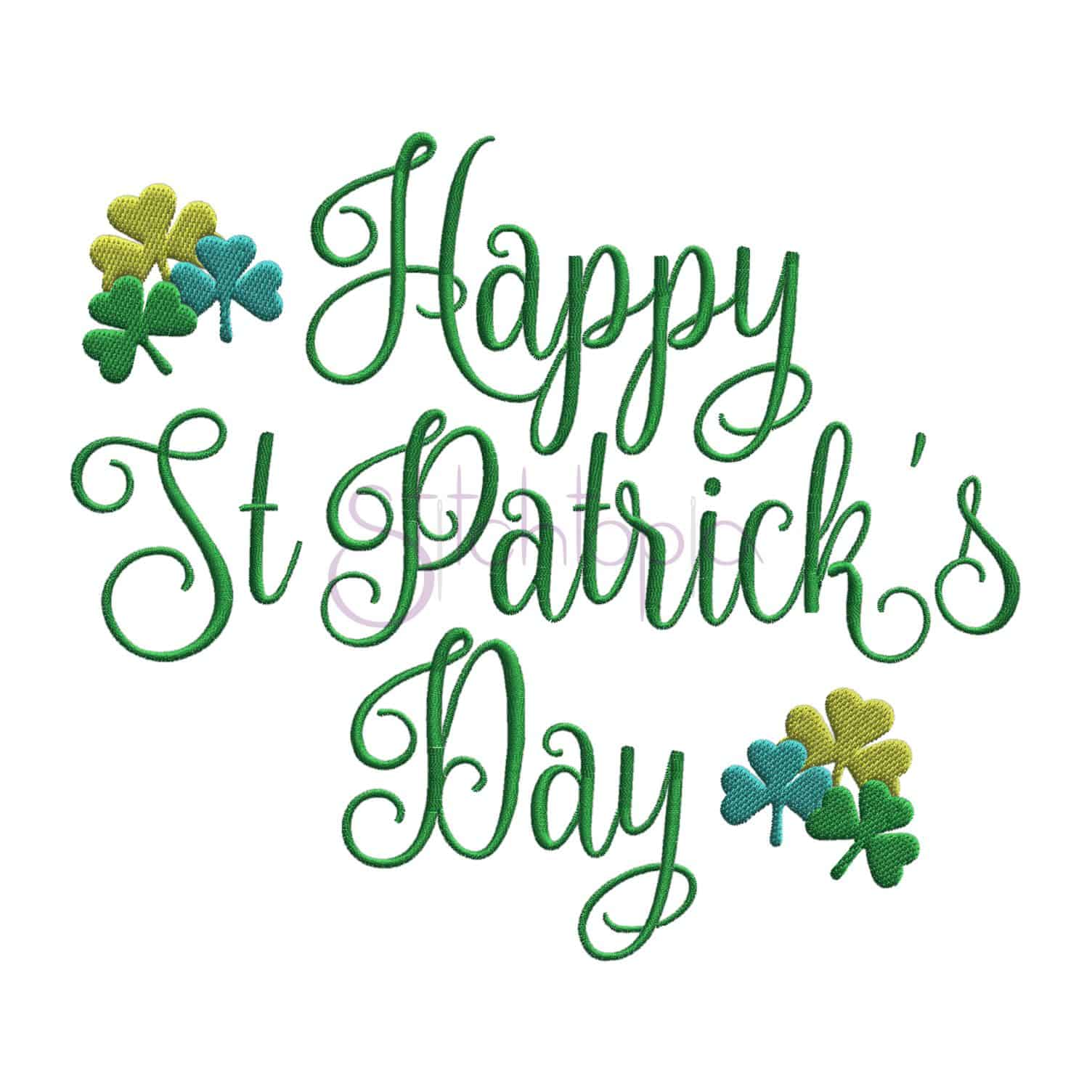 Happy St Patrick S Day Embroidery Design 2