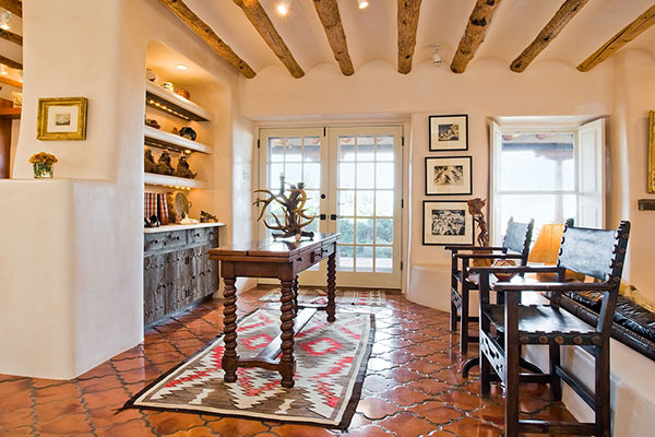 Classic Santa Fe Interior Design   Stivers   Smith Interiors Classic Santa Fe Entertaining Area