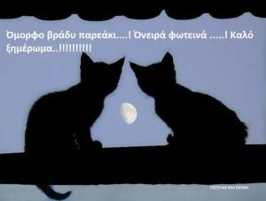 Όμορφο βράδυ παρεάκι….! Όνειρά φωτεινά …..! Καλό ξημέρωμα..!!!!!!!!!!